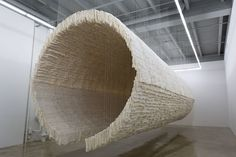 zhu jinshi suspends boat with 8,000 sheets of folded rice paper