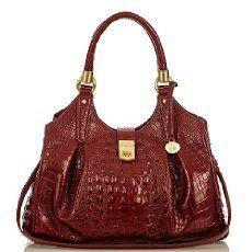 The Brahmin Elisa Hobo Bag in Carmine Red Melbourne