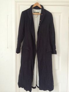 Paul Harnden Signature 3/4 Length Coat Sz L Navy