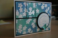 gewischt, Farben: ozeanblau, aquamarin, himmelblau, Stampin Up!-DP Zauberhaft, Stempel: Alexandra Renke