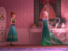 "Sisters! (LOVE Elsa's Dress!) First look! The Smash hit ""Frozen"" has inspired a short film, titled Frozen Fever, that will play in theaters before Cinderella. Elsa is preparing to throw Anna a birthday bash with all of her friends, including a cake-hungry Olaf. The seven-minute film will feature a new song."