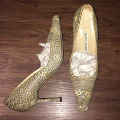 Manolo Blahnik heels pumps Manolo Blahnik pumps. Only worn once!! In mint condition!! Manolo Blahnik Shoes Heels
