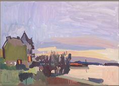Alexander Goudie la villa Kerjane à Loctudy et l'estuaire de la rivière