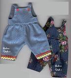 Till dockan. Tror det ska vara rätt strlk. En overall som kanske kan göras till klänning?