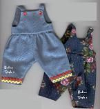 Free Tutorial and pattern for making overalls for a doll