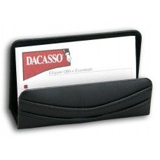 Desk Supplies>Desk Set / Conference Room Set>Holders>Business card Holders: Black Leather Business Card Holder