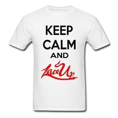 """Totally getting this """"Keep Calm And Lace Up"""" shirt!! MGK Lace Up!!(:<3"""