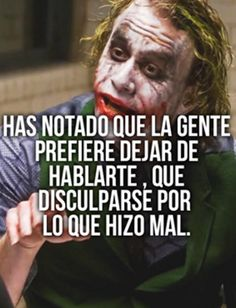 Sha & may Joker Frases, Joker Quotes, Top Disney Movies, Narcos Quotes, Quotes En Espanol, Serious Quotes, Christian Messages, Motivational Phrases, Tumblr Quotes