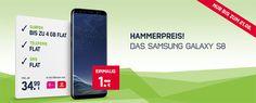 Samsung Galaxy S8 für 1€ mit 4GB Handyvertrag im D-Netz für 34,99€ http://www.simdealz.de/vodafone/galaxy-s8-mit-vodafone-vertrag/