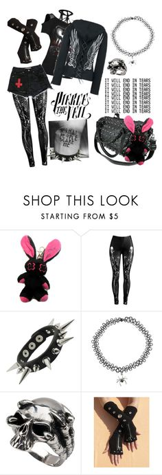 """""""Emo/Goth #2"""" by insanity-in-person ❤ liked on Polyvore featuring Poizen Industries"""