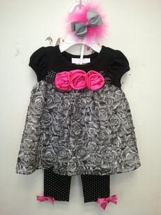 Perfect for any occasion! Beautiful lace and rosettes!