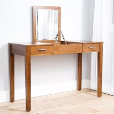 Haven Home Ainsley Walnut Vanity Desk by Hives & Honey