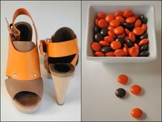 black and orange, #shoes #candy