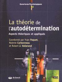 La théorie de l'autodétermination. Aspects théoriques et appliqués