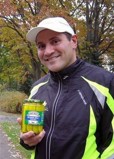 Drink dill pickle juice for muscle cramps.  another pinner, I worked out hard in my martial arts class today and this evening experienced muscle cramps in my leg.  My husband said his friends told him to have me drink pickle juice when this happens...It worked!  The cramp went away!  Here is an article with more info.