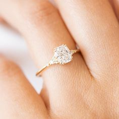 Moissanite engagement ring set Rose gold engagement ring vintage Oval curved wedding bridal Stacking Promise Anniversary gift for women - Fine Jewelry Ideas Morganite Engagement, Beautiful Engagement Rings, Rose Gold Engagement Ring, Vintage Engagement Rings, Diamond Wedding Bands, Cushion Cut Engagement Ring, Ring Set, Ring Verlobung, Bridal Rings