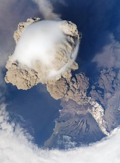 Sarychev Peak Volcanic Eruption in Russia's Kuril Islands from International Space Station