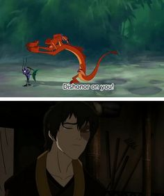 """""""Dishonor on you!  Dishonor on your cow!"""" - The alternate story of when Zuko encountered the dragons... (Avatar the Last Airbender)"""
