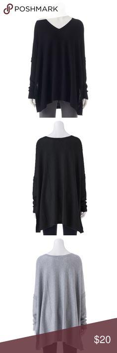 dddd8b64ff8 Apt. 9 V-Neck Poncho Sweater Size S/M Black NWT BRAND NEW