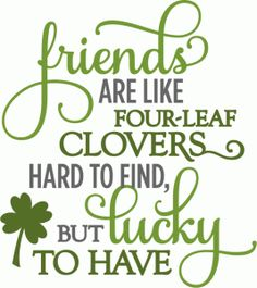 Silhouette Online Store - View Design #55497: friends four-leaf clover - layered phrase