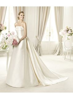 Empire Strapless Satin Wedding Dresses WE4233