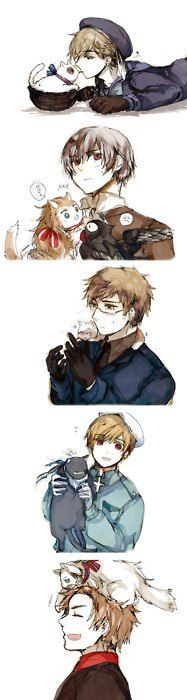 The Nordic 5 and their kitty pairs XD hehe so cute~!