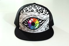 A personal favorite from my Etsy shop https://www.etsy.com/es/listing/276667924/snapback-pintada-a-mano-blanco-negro