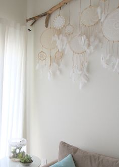 Set of three Vintage Doily Dreamcatcher No. 016 017 door BelleNotti