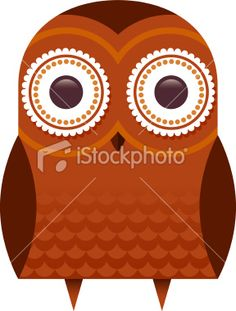 Brown owl Royalty Free Stock Vector Art Illustration - i like how nerdy this one looks