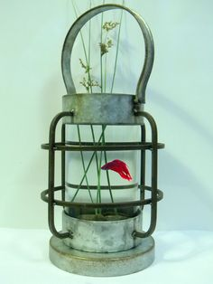 Charming Archaic Lantern Style Aquarium  Ideal by CuriosityShopper