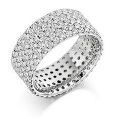 #eternityrings Round Brilliant Pavé Set & Micro Claw Set #wedding #weddingring #eternityring #diamond #diamonds #diamondrings #diamondjewellery #jewellery #bride #ido #ring #engagementrings
