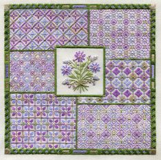 Two-Handed Stitcher: A New Spring Bouquet Needlepoint Stitches, Needlepoint Patterns, Needlework, Vintage Embroidery, Embroidery Applique, Embroidery Ideas, Cross Stitch Designs, Cross Stitch Patterns, Blackwork