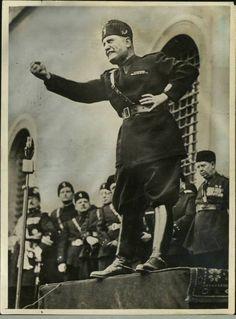 Italian Dictator Benito Mussolini in a propaganda postcard.