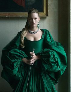 Anna Ewers channels her inner queen for Vogue Paris' December-January issue. Captured by Charlotte Wales, she poses on location at Paris' Grand Pigalle Hotel. Stylist Anastasia Barbieri selects sparkling gems as well as opulent … Anna Ewers, Vogue Paris, Anastasia, Paris December, Fashion Models, Girl Fashion, Fashion Design, Mode Editorials, Fashion Editorials