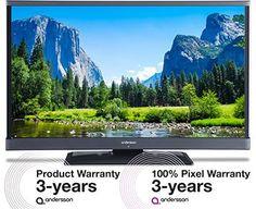 Digital-TV (DVB-T/T2/C), HDTV-mottagare, 2 x HDMI / 1 x VGA, USB-ingång med stöd för foto, musik och film, 3 års garanti och pixelgaranti