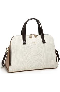 58ba57c63cf9 Furla 'Frida - Medium' Embossed Leather Satchel available at #Nordstrom  #furlahandbags Mk