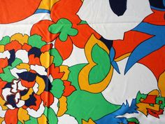 Vintage Fabric Mod Flowers from the 1960s Retro Chic by KimBuilt, $10.00