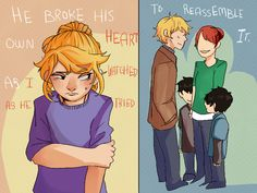 "Pt.2 ""He broke his own heart as I watched as he tried to reassemble it."" Annabeth Chase"