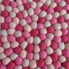 Crazy for pink? This wonderful felt ball rug is perfect for a baby room or a romantic bedroom. Felt Ball Rug, Shops, Carpets, Baby Room, Poster, Presents, Romantic, Inspiration, Bedroom