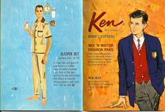Ken fashions - Sleeper Set; Ken Mix 'n Match Fashion Paks
