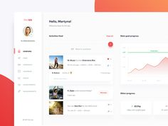 Fitness dashboard – overview 🏃🏻