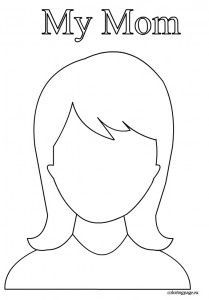My Face Coloring Pages Preschool Coloring Pages Face Template Drawing For Kids