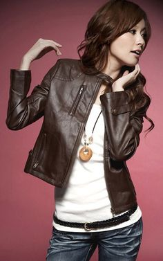 55727028aa155 Leather Jacket Faux Leather Jackets, Brown Faux Leather Jacket, Leather  Jackets For Women,