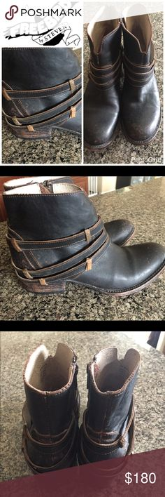 Freebird boots Distressed Freebird boot in low heel. Well loved, classic Freebird look Freebird by Steven Shoes Ankle Boots & Booties