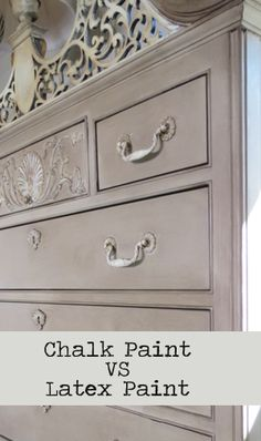 If you are debating whether or not to use chalk paint or regular latex paint on your next piece of furniture. Here are some of the highlights of the pros and cons of both... View the slideshow belo...