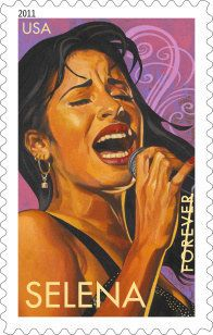 """The USPS honored Selena with a """"Latin Music Legends"""" Forever stamp. [28 Things You Didn't Know About Selena] Selena Quintanilla Perez, Selena Gomez, Selena Selena, Michael Jackson, Theme Carnaval, Divas, Mexican American, American History, Latin Music"""