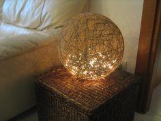 lampada di spago, by Dire...Fare...Creare, 15,00 € su misshobby.com Table Lamp, Paper, Tutorial, Video, Bella, Home Decor, Design, Crafts, Bricolage