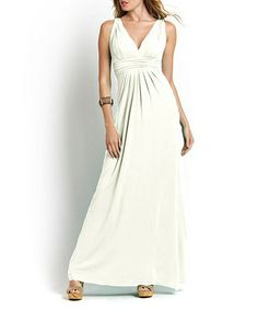 Take a look at this White Belfort Maxi Dress by TART Collections on #zulily today!
