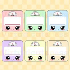 Kawaii Weigh In Clip Art - Cute Scales, Fitness Goal, Workout, Training, Gym, Weight Tracker, Pastel Colors Free Commercial and Personal Use