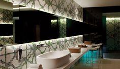 Bagno Con Mosaico Bisazza : Vasca in muratura rivestita con mosaico bisazza atzori con